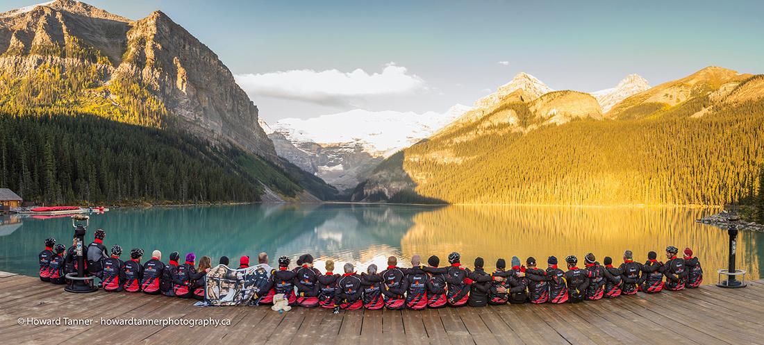 SNKCR 2015 Team photo at Lake Louise, Alberta